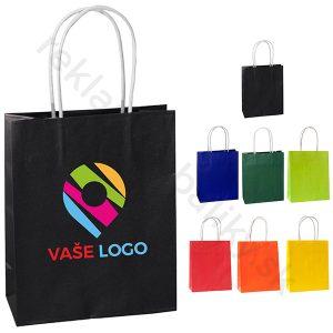 Reklamné papierové tašky s potlačuou loga v rôznych farbách