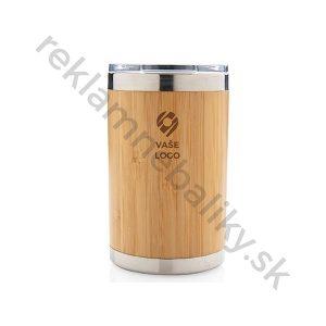 Praktický bambusový termohrnček s gravírovaním loga na jedno miesto