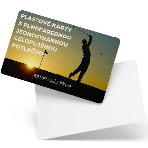 plastové karty s jednostrannou potlačou