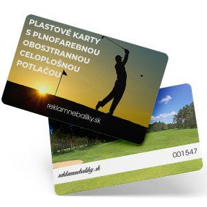 plastové karty s potlačou